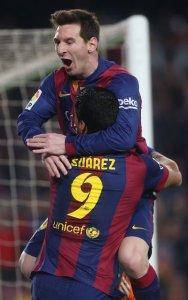 Barça 3-1 Villarreal Messi goal celebration 2015