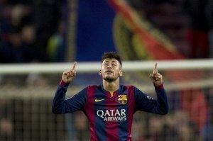 Barça 3-2 Villarreal Neymar celebration 2015