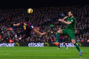 Barça 5-0 Levante Suárez goal 2015