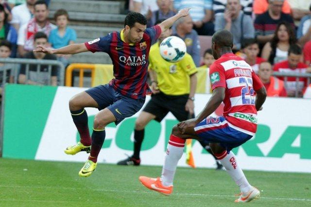 Granada 1-0 Barça Pedro 2014