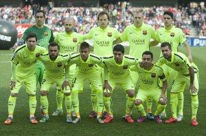 Granada 1-3 Barça team photo 2015