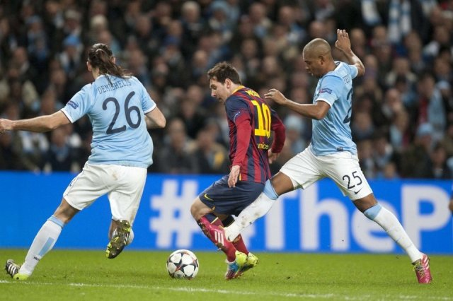Man City 0-2 Barça Leo Messi 2014