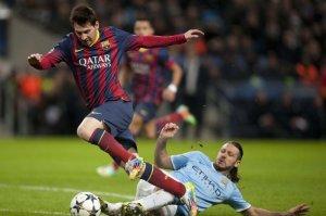 Man City 0-2 Barça Messi Demichelis penalty 2014