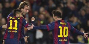 Barça 1-0 Man City Rakitic goal celebration 2015