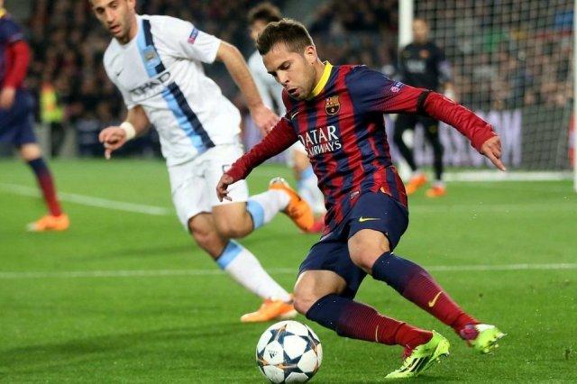 Barça 2-1 Man City Jordi Alba 2014