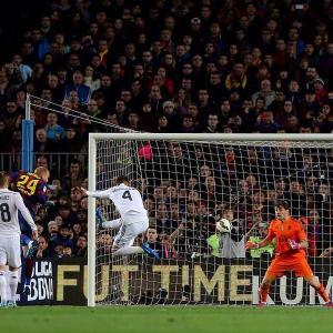 Barça 2-1 Real Madrid Mathieu goal 2015