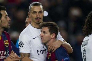 Barça 3-1 PSG Messi and Ibrahimovic 2014