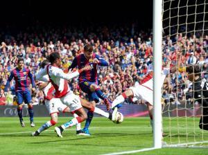 Barça 6-1 Rayo Pique goal 2015