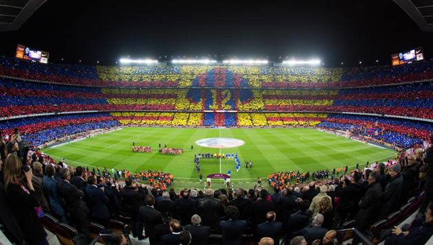 Camp Nou mosaic real madrid 2015
