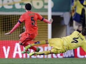 Villarreal 1-3 Barça Busquets injury 2015