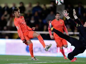 Villarreal 1-3 Barça Neymar scores first goal 2015