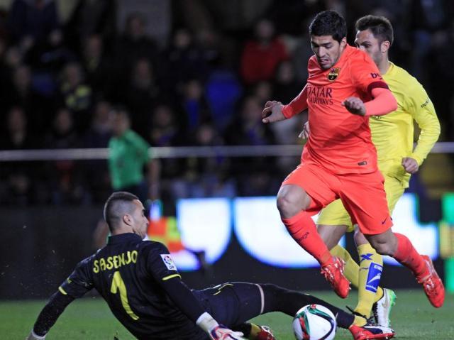 Villarreal 1-3 Barça Suarez scores goal 2015