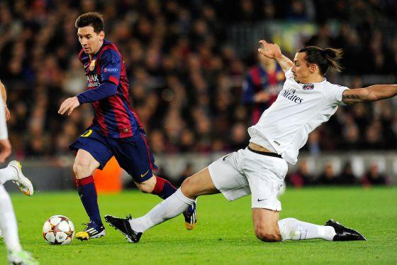 Barça 3-1 PSG Messi Ibrahimovic 2014