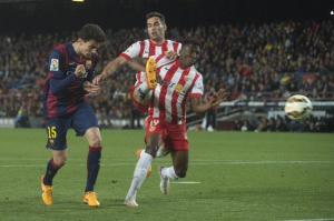 Barça 4-0 Almeria Bartra goal 2015