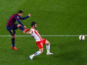 Barça 4-0 Almeria Suárez goal 2015
