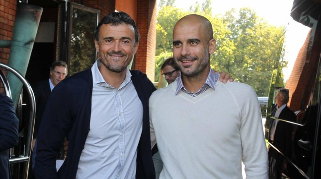 Image result for pep guardiola and luis enrique