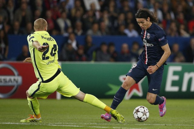 PSG 3-2 Barça Mathieu Cavani 2014