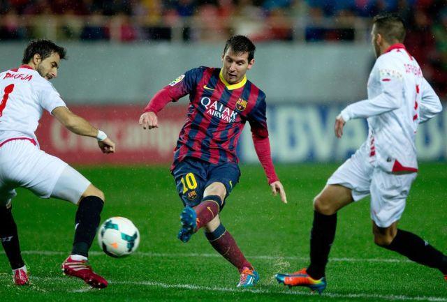 Sevilla 1-4 Barça Messi second goal 2014