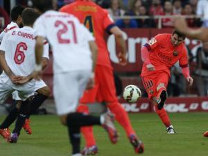 Sevilla 2-2 Barça Messi goal 2015