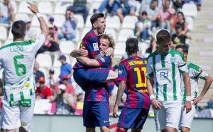 Cordoba 0-8 Barça Rakitic celebrates goal 2015.jpg-large