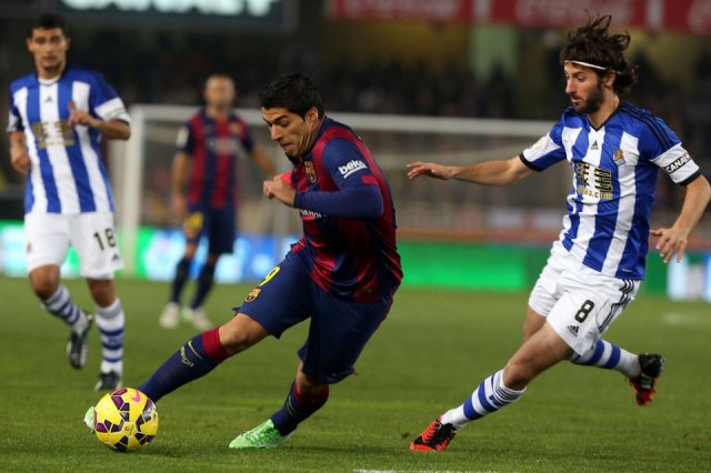 Real Sociedad 1-0 Barça Suarez 2015