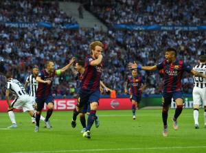 Champions League Final 2015 Ivan Rakitic celebrates goal