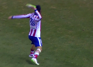 Arda Turan boot throw 2015