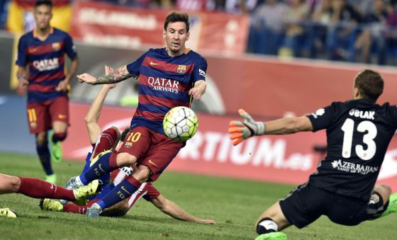 Atletico 1 Barça 2 Messi goal 2015
