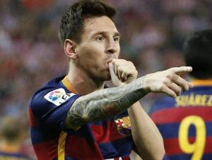 Messi dedicates goal vs Atlético Madrid to second son Mateo 2015
