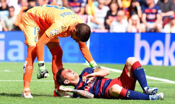 Messi injured Las Palmas 2015
