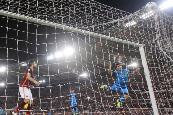 roma 1-1 barça luis suárez goal 2015